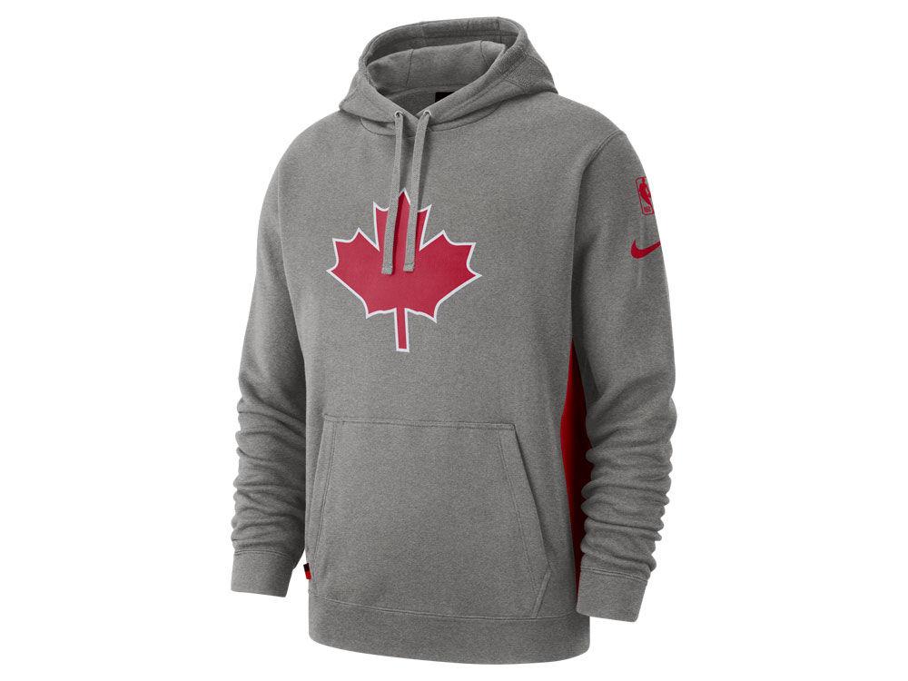 b249abe09 Toronto Raptors Nike 2018 NBA Men s Earned Edition Courtside Hoodie ...