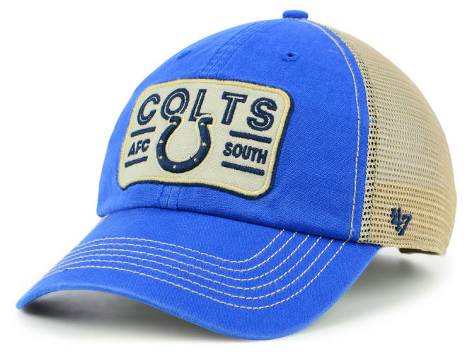 Indianapolis Colts  47 NFL Sallana Mesh CLEAN UP Cap  c8c58b71082