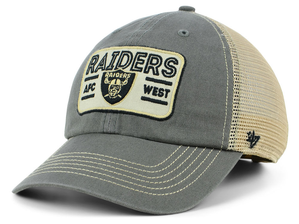 Oakland Raiders  47 NFL Sallana Mesh CLEAN UP Cap  4ae33d30b
