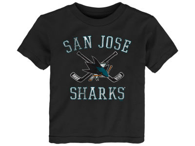 San Jose Sharks Outerstuff NHL Toddler Sticks Crossed T-Shirt