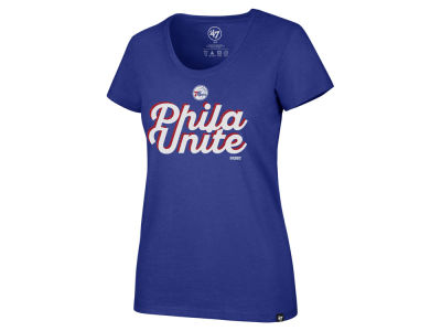 Philadelphia 76ers '47 NBA Women's Slogan Scoop T-Shirt