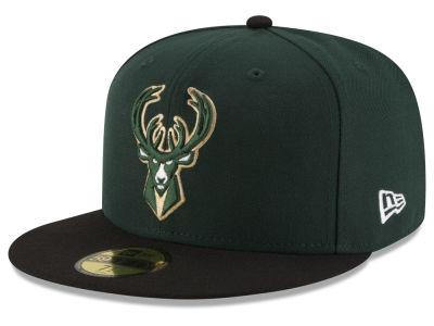 Milwaukee Bucks New Era NBA Basic 2 Tone 59FIFTY Cap 368f982ae47d