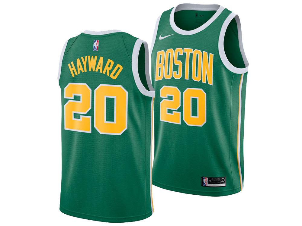 78779b471 Boston Celtics Gordon Hayward Nike 2018 NBA Men s Earned Edition Swingman  Jersey