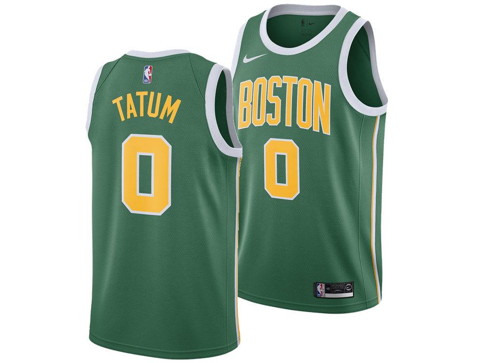 Boston Celtics Jayson Tatum Nike 2018 NBA Men s Earned Edition Swingman  Jersey  ca66a10f2