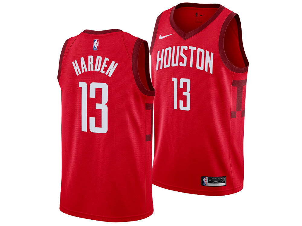 0d75562b3 Houston Rockets James Harden Nike 2018 NBA Men s Earned Edition Swingman  Jersey