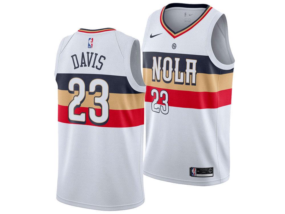 New Orleans Pelicans Anthony Davis Nike 2018 NBA Men s Earned Edition  Swingman Jersey  ff3a3cf14