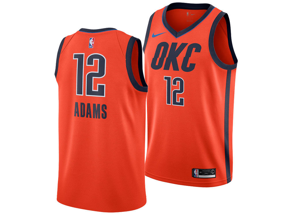 1ff17f4cca3 Oklahoma City Thunder Steven Adams Nike 2018 NBA Men's Earned Edition  Swingman Jersey. Top. Oklahoma ...