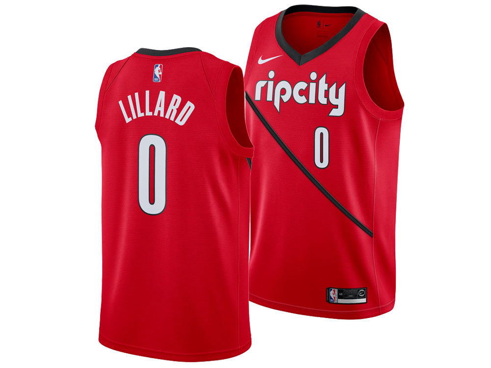 Portland Trail Blazers Damian Lillard Nike 2018 NBA Men s Earned Edition Swingman  Jersey  4bff832b2