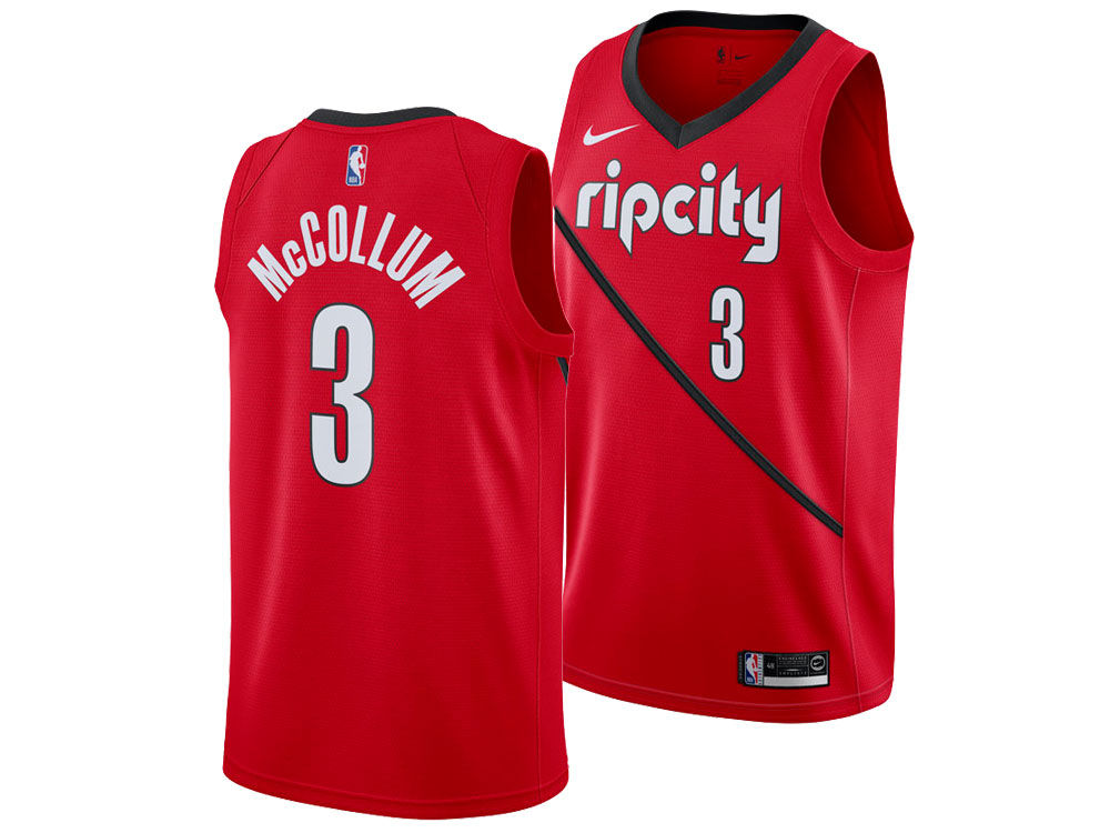 Portland Trail Blazers C. J. McCollum Nike 2018 NBA Men s Earned Edition  Swingman Jersey  325b51b20