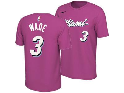 959e266c5 Miami Heat Dwyane Wade Nike 2018 NBA Men s Earned Edition Player T-Shirt