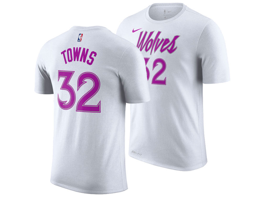 Minnesota Timberwolves Karl-Anthony Towns Nike 2018 NBA Men s Earned  Edition Player T-Shirt  e8aaa1d15