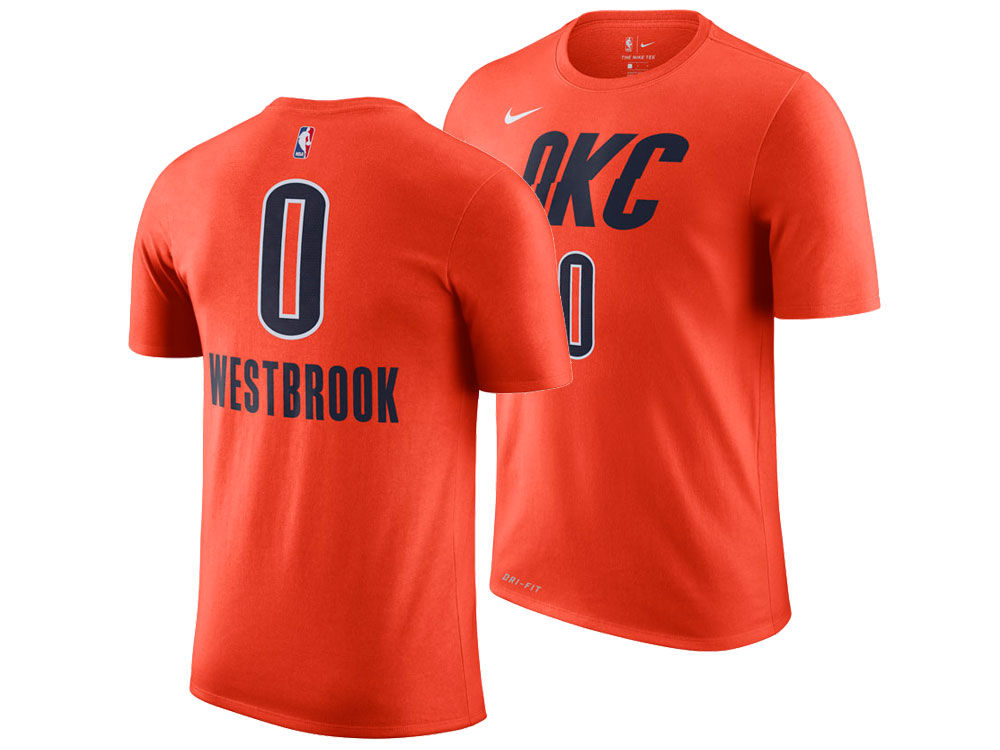 683a49c71 Oklahoma City Thunder Russell Westbrook Nike 2018 NBA Men s Earned Edition  Player T-Shirt