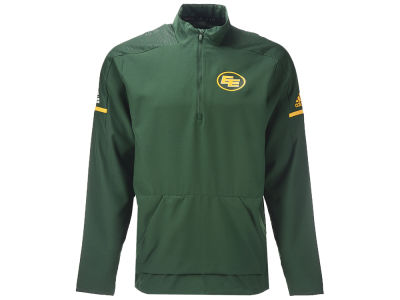 Edmonton Eskimos adidas CFL Men's Long Sleeve Woven Quarter Zip Pullover