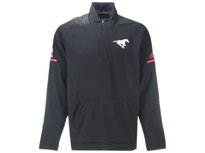 Calgary Stampeders adidas CFL Men's Long Sleeve Woven Quarter Zip Pullover