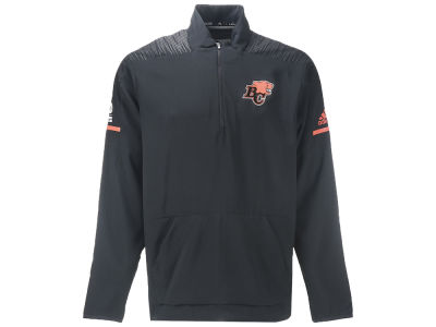 BC Lions adidas CFL Men's Long Sleeve Woven Quarter Zip Pullover