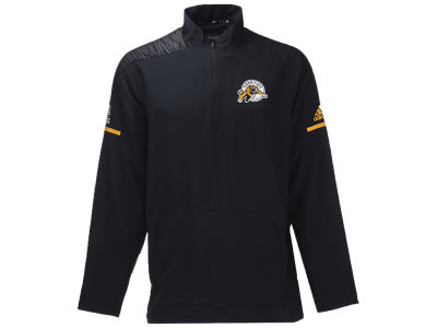 Hamilton Tiger-Cats adidas CFL Men's Long Sleeve Woven Quarter Zip Pullover
