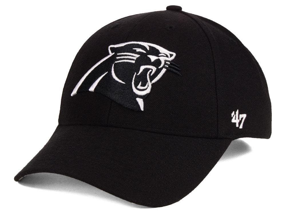 Carolina Panthers  47 NFL Black   White MVP Cap  955ff3c8866