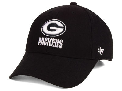 ff41bbc95 Green Bay Packers  47 NFL Black   White MVP Cap