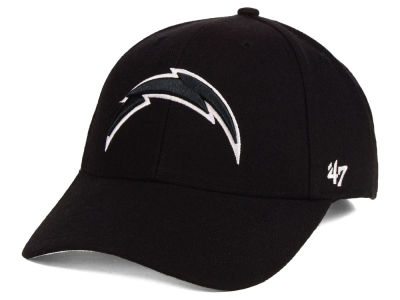 Los Angeles Chargers '47 NFL Black & White MVP Cap