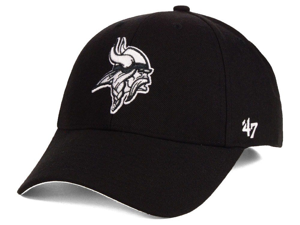 1f6576c7a2f Minnesota Vikings  47 NFL Black   White MVP Cap