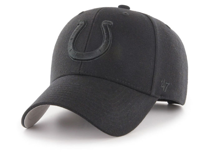 916dca100fa Indianapolis Colts  47 NFL Black   Black MVP Cap
