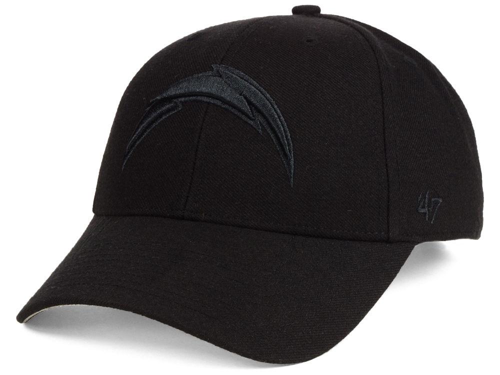 f4d79e45 Los Angeles Chargers '47 NFL Black & Black MVP Cap