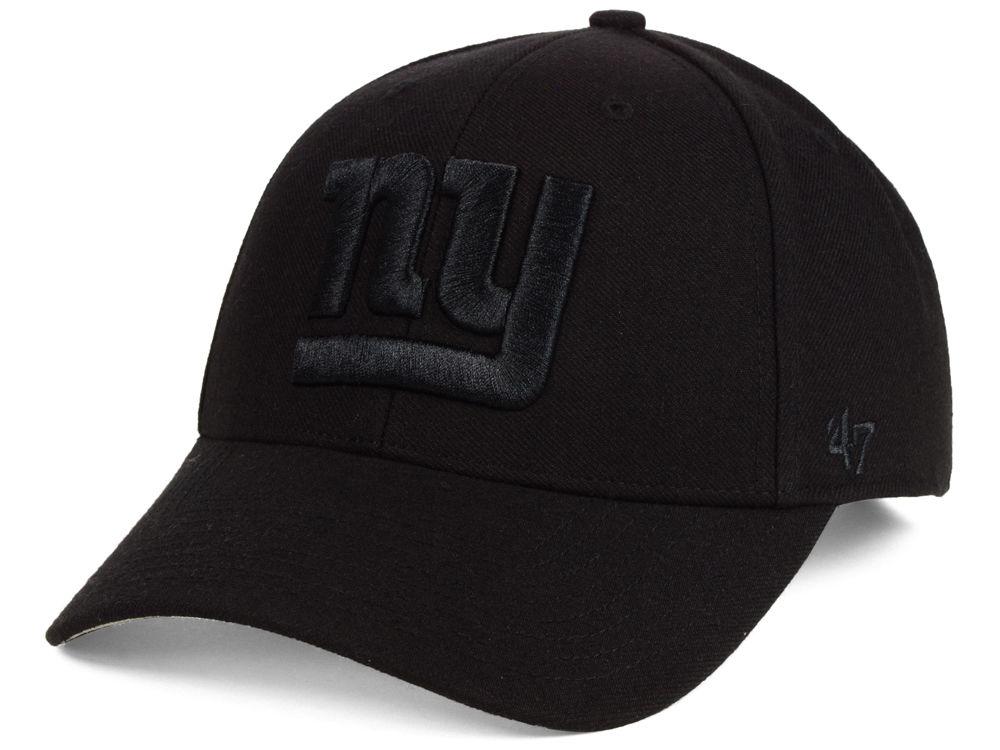 New York Giants  47 NFL Black   Black MVP Cap  9a558a958b2