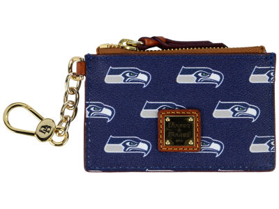 Seattle Seahawks Dooney & Bourke Zip Top Card Case