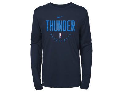 Oklahoma City Thunder Nike NBA Youth Long Sleeve Practice T-Shirt
