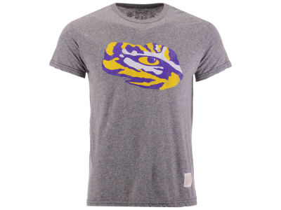 LSU Tigers Retro Brand NCAA Men's Retro Logo Tri-blend T-Shirt