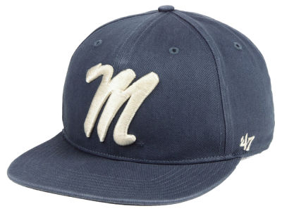 Ole Miss Rebels '47 NCAA Navy Go Shot CAPTAIN Cap