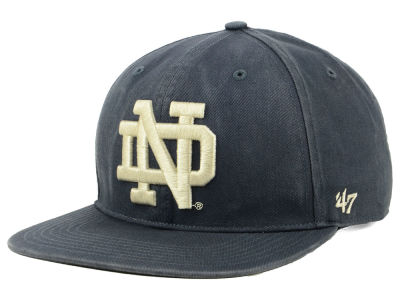 Notre Dame Fighting Irish '47 NCAA Navy Go Shot CAPTAIN Cap