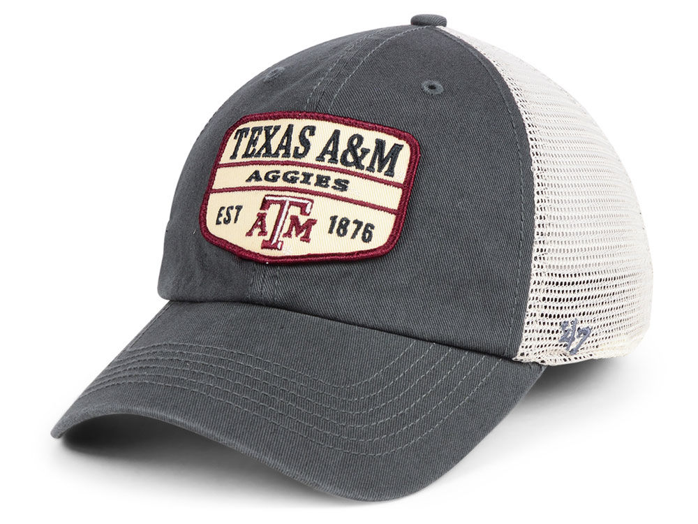 the latest 59b71 cab6e ... real texas am aggies 47 ncaa doherty mesh clean up cap ddd8f 3450c