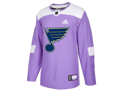 St. Louis Blues adidas NHL Men's Authentic Hockey Fights Cancer Jersey