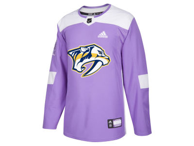 Nashville Predators adidas NHL Men's Authentic Hockey Fights Cancer Jersey