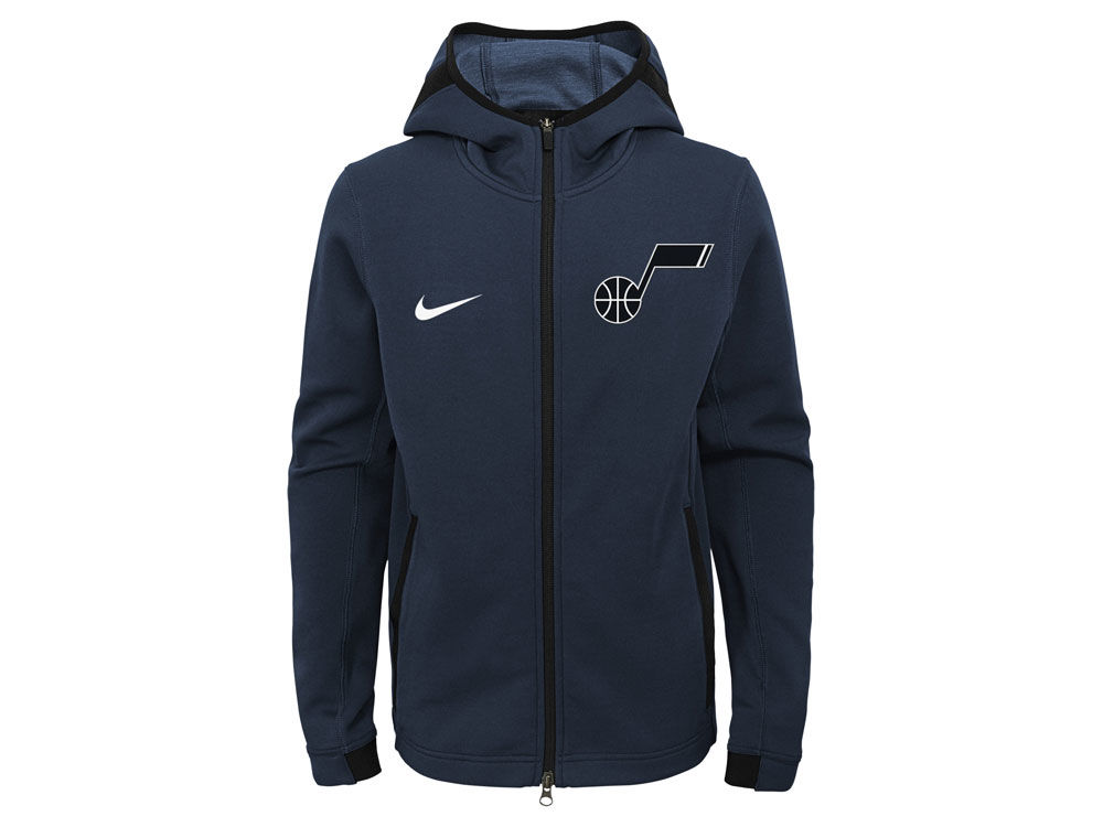 Utah Jazz Nike NBA Youth Showtime Hooded Jacket  c009d8de4ef9