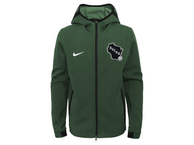 Milwaukee Bucks Nike NBA Youth Showtime Hooded Jacket
