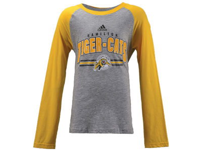 Hamilton Tiger-Cats adidas CFL Youth Audible Long Sleeve T-shirt c9248af1d