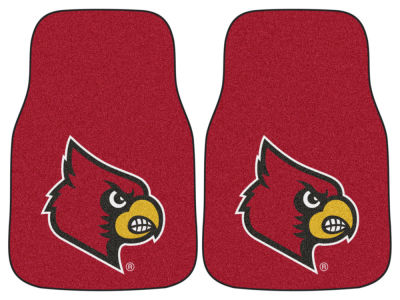 Louisville Cardinals Fan Mats 2 Piece Carpet Car Mat Set