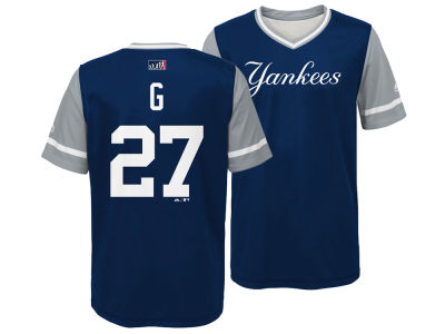 New York Yankees Giancarlo Stanton Majestic MLB Youth Players Weekend Jersey