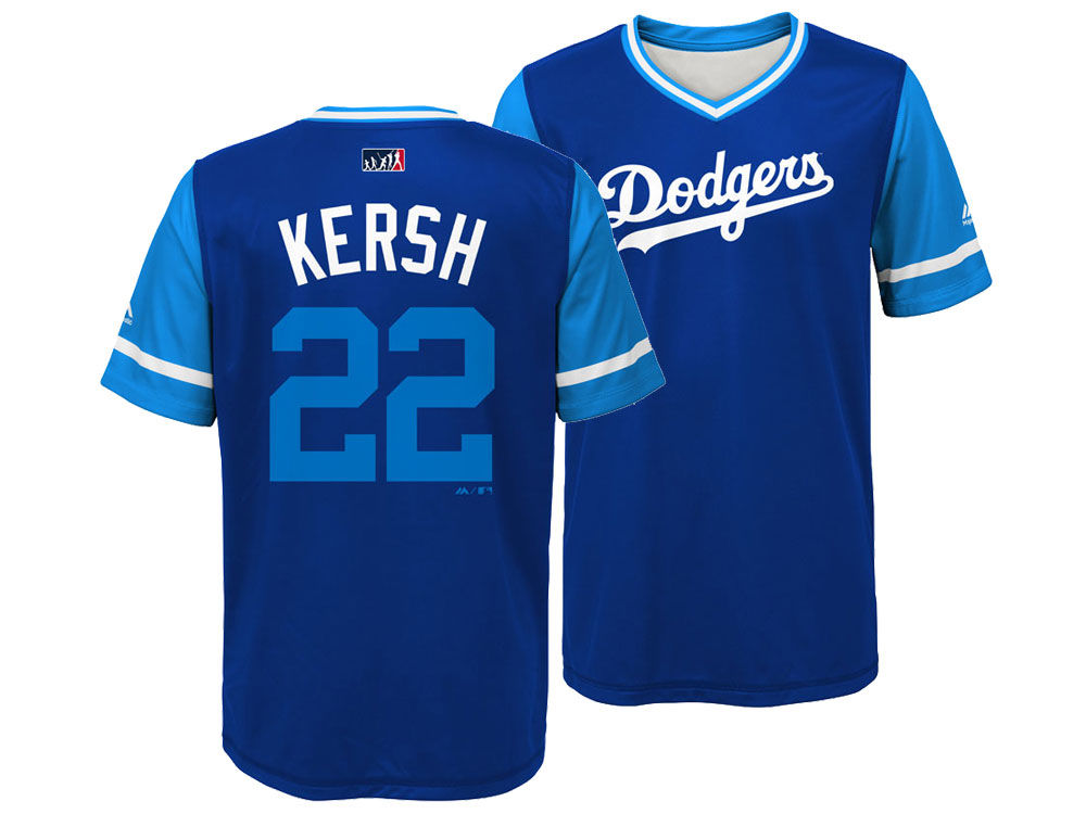 Los Angeles Dodgers Clayton Kershaw Majestic MLB Youth Players Weekend  Jersey  600d938bb03