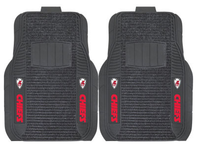 Kansas City Chiefs Fan Mats 2 Piece Deluxe Car Mat Set