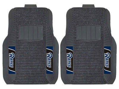 Los Angeles Rams Fan Mats 2 Piece Deluxe Car Mat Set