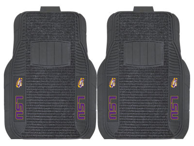 LSU Tigers Fan Mats 2 Piece Deluxe Car Mat Set