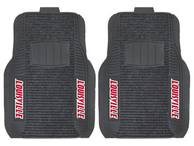 Louisville Cardinals Fan Mats 2 Piece Deluxe Car Mat Set