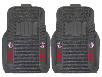 Chicago Cubs Fan Mats 2 Piece Deluxe Car Mat Set