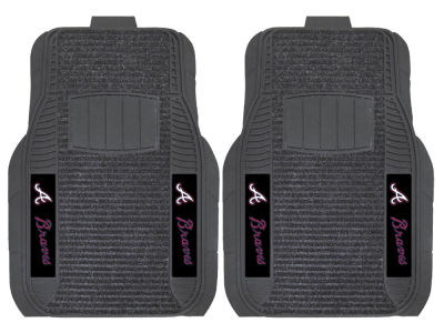Atlanta Braves Fan Mats 2 Piece Deluxe Car Mat Set
