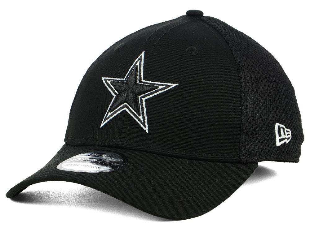 Dallas Cowboys New Era NFL Black   White Neo 39THIRTY Cap  0328a540e59