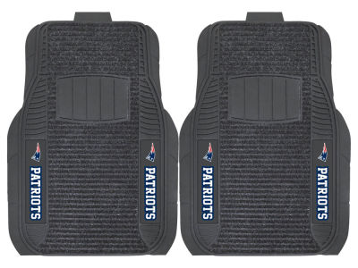 New England Patriots Fan Mats 2 Piece Deluxe Car Mat Set