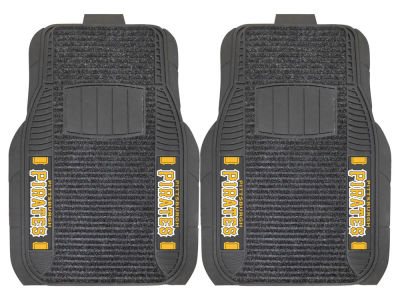 Pittsburgh Pirates Fan Mats 2 Piece Deluxe Car Mat Set